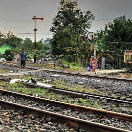 stasiong by Dedi Sukardi - Transportation Railway Tracks