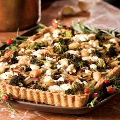 Roasted Vegetable Tart With Cheddar-Cornmeal Crust Recipe | Yummly