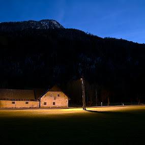 Domačija v Rutah by Bojan K - Buildings & Architecture Homes ( slovenia, night, gorenjska, farm, kmetija )