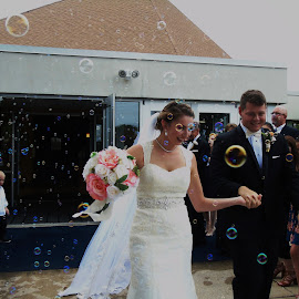 Bubbles~ by Annette Crivellaro - Wedding Bride & Groom