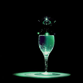 Spotlight by James Schenk - Food & Drink Alcohol & Drinks ( wine, water, speedlight, flash, bubble, wine glass, drink, drinks )