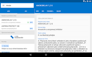 Screenshot of Mediately Databáze léčiv