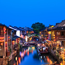 XITANG  ancient scenic town by CK Chong - City,  Street & Park  Night
