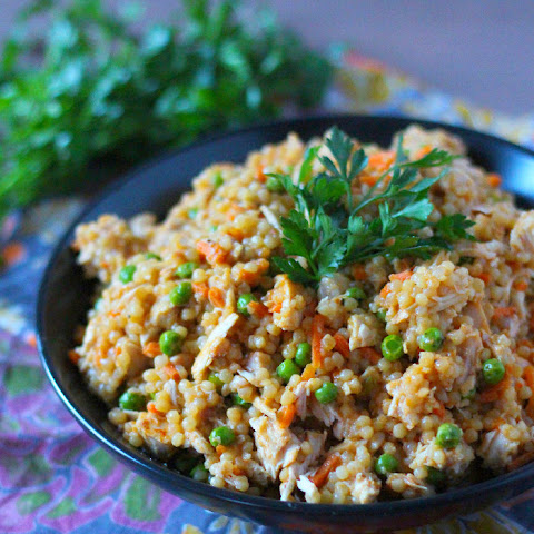 Couscous with Chicken, Peas & Carrots
