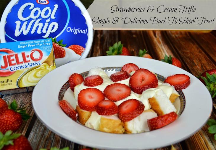 Strawberries & Cream Trifle Recipe | Yummly