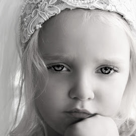 Reluctant Princess Bride B&W by Cheryl Korotky - Black & White Portraits & People