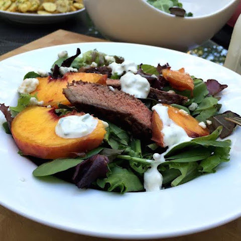Grilled Steak & Peach Salad