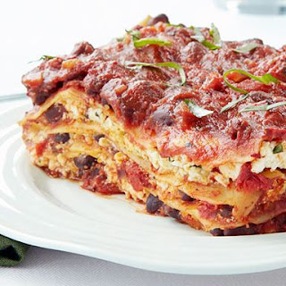 Cheeseless Black Bean Lasagna