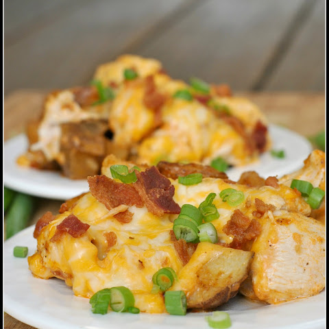 Loaded Baked Potato and Buffalo Chicken Casserole