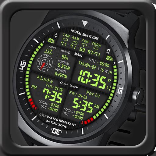 F08 3 x World Clock Watch Face