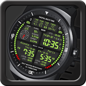 F08 3 x World Clock Watch Face