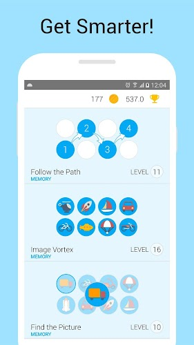 Memory Games: Brain Training Android App Screenshot