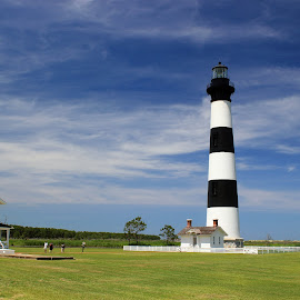 Bodie Island Lighthouse by Chris Snyder - Buildings & Architecture Public & Historical ( nps, cape hatteras national seashore, national park, obx, bodie island, nc, outer banks, lighthouse, nc 12, stripes, north carolina,  )