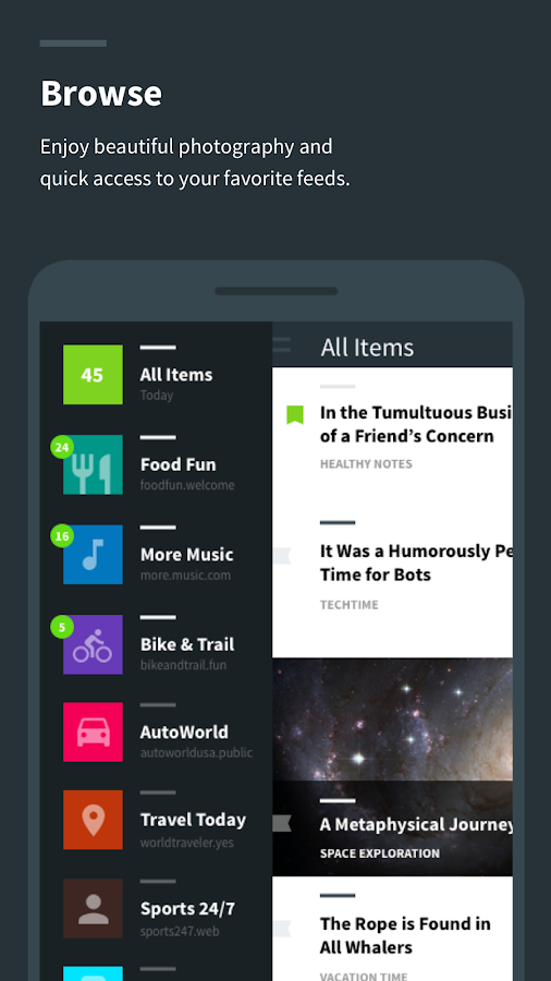 Readzi – A Feedly RSS Reader Screenshot 1