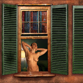 Warm glow by Mike Lloyd - Nudes & Boudoir Boudoir ( girl, nude, window, naked, women )