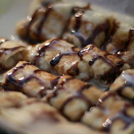 pancakes by Андрей Замышляев - Food & Drink Cooking & Baking ( chocolate, sweet, pancakes )