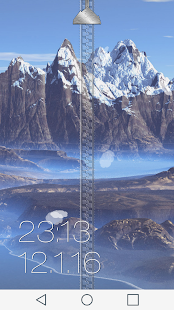 Mountain Zipper Lock Screen - screenshot