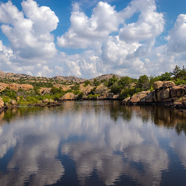 Cloudy Reflection by Kathy Suttles - Landscapes Cloud Formations