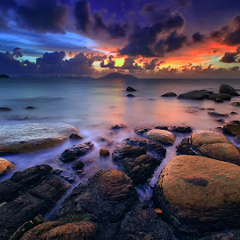FULL COLOUR OF OMONG BEACH by Muhammad Ridha - Landscapes Sunsets & Sunrises