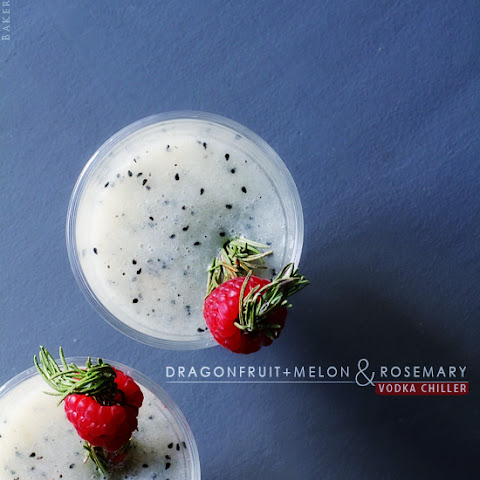 Dragon Fruit + Melon and Rosemary Vodka Chiller
