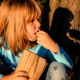 by Doru Mihail - Babies & Children Child Portraits ( popcorn, girl, park )