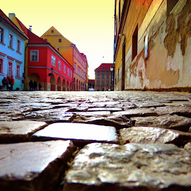 Sunset on the cobblestone walkways of Prague by Shirshendu Sengupta - Landscapes Sunsets & Sunrises ( via krupp, waterland, relax, grandfather, travel, landscape, island, mountains, village, nature, autumn, capri, switzerland, broek, evening, italy, afternoon, lake, netherlands, country, isle, fog, fall, holland, cloud, night, jungfrau, mist, tranquil, relaxing, tranquility )