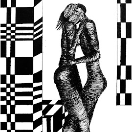 los amorosos by Mauricio Silerio - Drawing All Drawing ( amorosos, lovers, paper, amantes, ink )