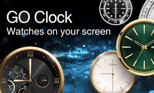 GO Clock - Alarm Clock & Theme screenshot 1