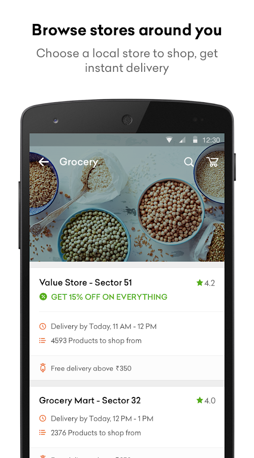 Grofers - Online Grocery Screenshot 1
