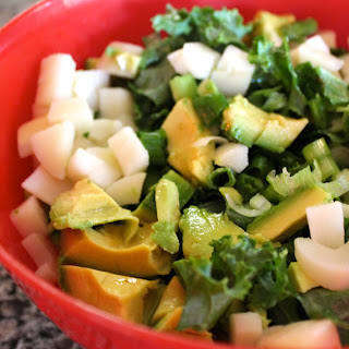 5 Minute Spicy Tangy Kale Salad