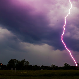 A close CG by Greg Reeves - Landscapes Weather ( lightning strike, lightning, cg, storms, storm, cloud to ground )