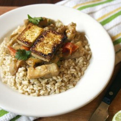 Eggplant and Sweet Pepper-Studded Red Curry