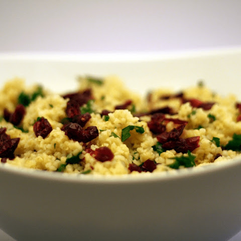Bulgur Salad With Dried Cranberries And Fresh Parsley