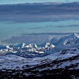 Winter Hiking Thompson Pass Near Valdez, AK by Marc Baisden - Landscapes Mountains & Hills ( ak, adventure, thompson pass, alaska, travel, valdex, hiking )