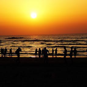 Sunset at Aksa Beach(Mumbai, India) by Ram Seth - Landscapes Sunsets & Sunrises ( sunset, beach, aksa beach,  )