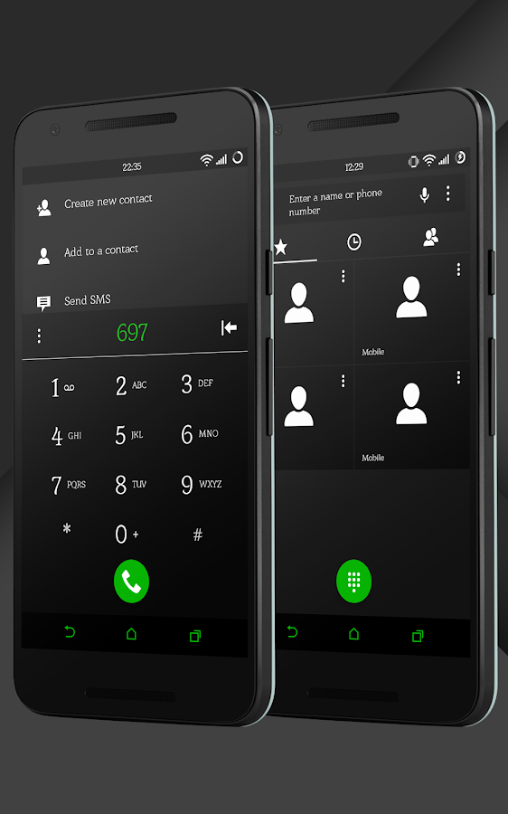 Sense Black/Green cm13 theme Screenshot 4