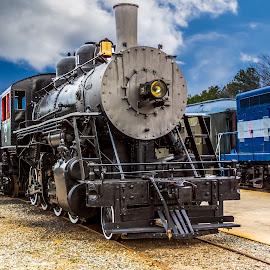 Engine 21 by Liam Douglas - Transportation Trains ( railway, engine, railroad, railyard, train, museum )