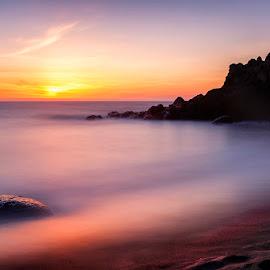 Twilight's Calm by Ken Smith - Landscapes Travel ( fogarty creek state park, sunset, oregon coast, landscape )