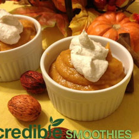 Vegan Pumpkin Pudding with Macadamia Nut Cream Topping