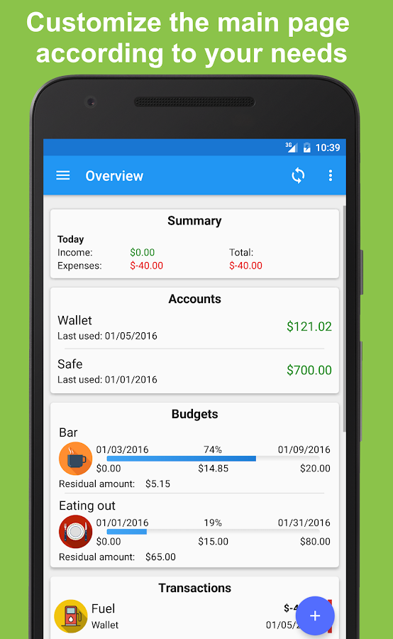 Fast Budget - Expense Manager Screenshot