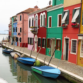 Colors by Randi Hodson - City,  Street & Park  Neighborhoods ( burano, italy,  )