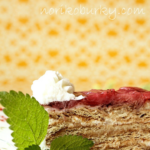 Cuatro Leche Layered Graham Cracker Cake with Strawberries