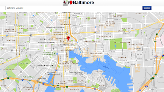 Baltimore Map - screenshot