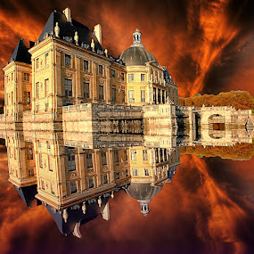 Reflet dans les douves by Gérard CHATENET - Digital Art Places (  )