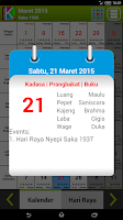 Screenshot of Kalender Bali