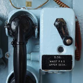 Nobody ever calls. by Alex Nicholson - Artistic Objects Technology Objects ( edinburgh, blue, royal, ship, telephone )