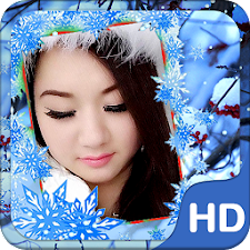 Snow Winter Photo Frame