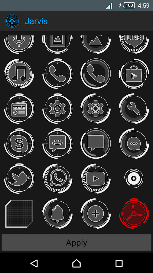 JARVIS - icon pack Screenshot 2