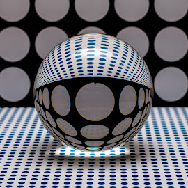 Spotty Orb by Simon Sweetman - Abstract Patterns ( spots, orb, spotty, glass, refraction )