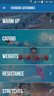AquaFit Trainer Fitness app screenshot for Android
